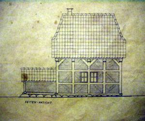 Historischer Grundriss des Rethorner Backhauses