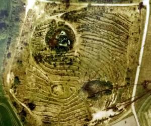 Luftbild der Rethorner Sandgrube