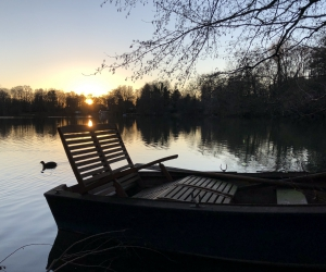 Boot auf dem Kamerner See in Rethorn