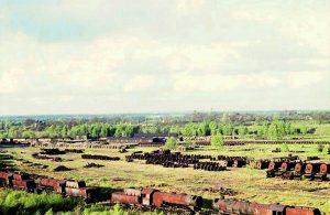Verschrottene Lokomotiven und Zuganhänger